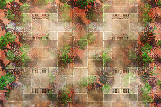 Tropical Deco Pineapple von GLAMORA | Wandbeläge