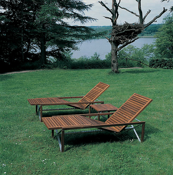 Xylofon sunbed di Magnus Olesen | Lettini giardino