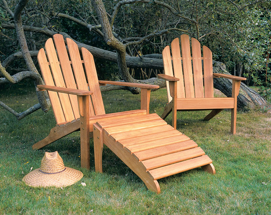 Adirondack Chair + Ottoman de Kingsley Bate | Sillones