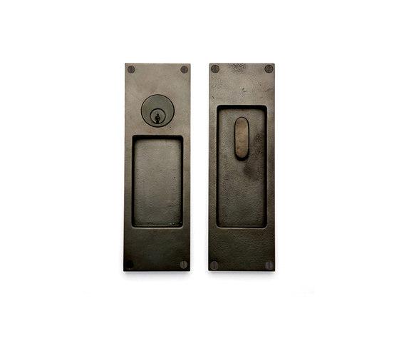Pocket Door Sets - CS-FP450ML by Sun Valley Bronze   Flush pull handles