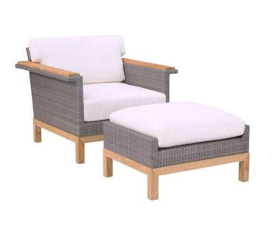 Azores Lounge Chair + Ottoman de Kingsley Bate | Sillones