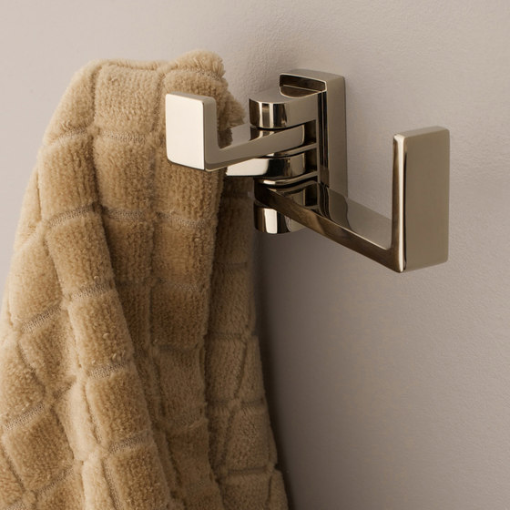 Lineal Triple Pivoting Robe Hook by Ginger | Towel rails