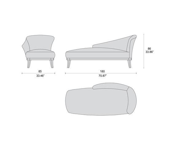 1699 chaiselongue di Tecni Nova | Dormeuse