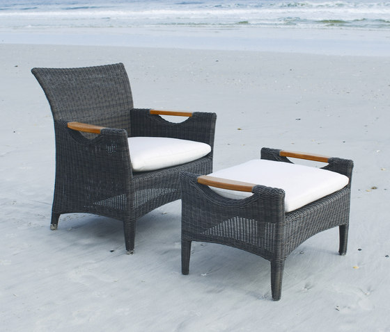 Culebra Club Chair + Ottoman by Kingsley Bate | Armchairs
