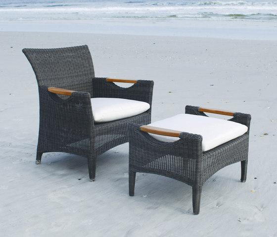 Culebra Club Chair + Ottoman de Kingsley Bate | Sillones