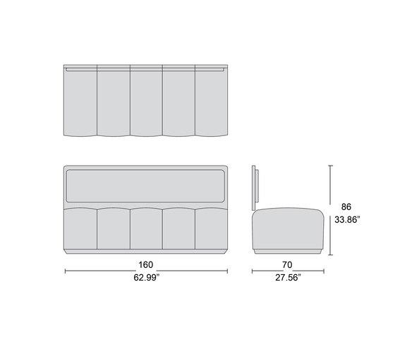 1725 modular bench by Tecni Nova | Sofas