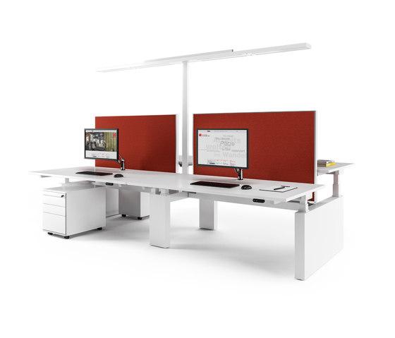 Canvaro Compact Desking programme by Assmann Büromöbel | Desks