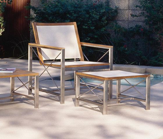 Ibiza Dining Chair + Ottoman de Kingsley Bate | Sillones