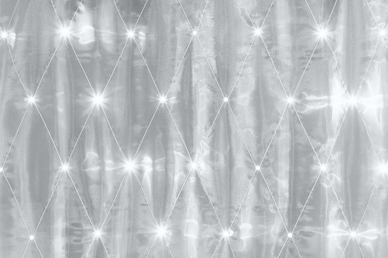 Organza Rombe | white/anthracite by Forster Rohner Textile Innovations | Curtain fabrics