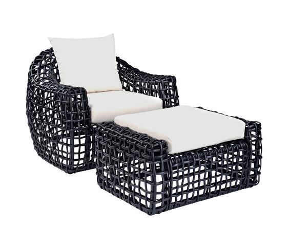 Miami Lounge Chair + Ottoman de Kingsley Bate | Sillones