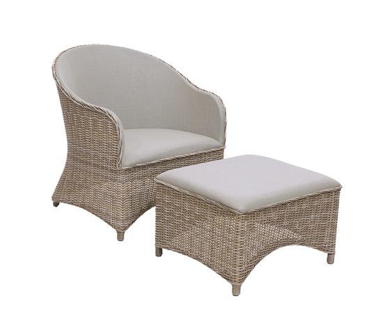Milano Club Chair + Ottoman de Kingsley Bate | Sillones