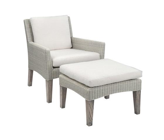 Paris Club Chair + Ottoman de Kingsley Bate | Sillones