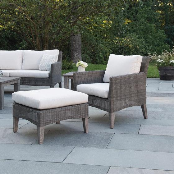 Paris Lounge Chair + Ottoman de Kingsley Bate   Sillones