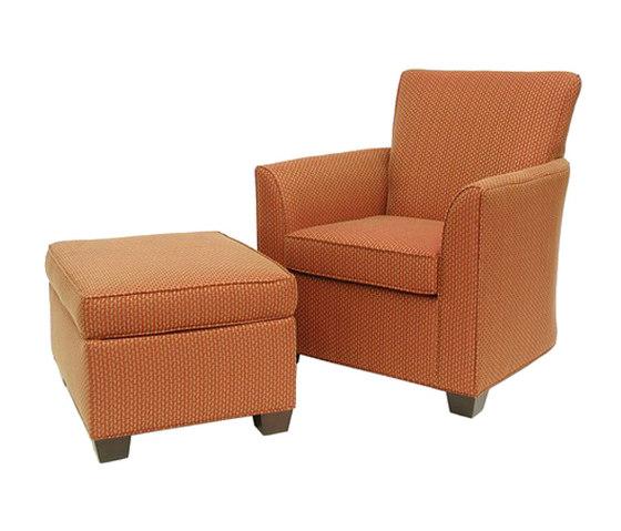 Lounge Chair with Poof de BK Barrit   Poufs