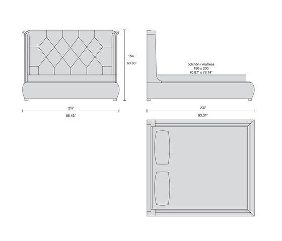 4215 bed by Tecni Nova | Beds