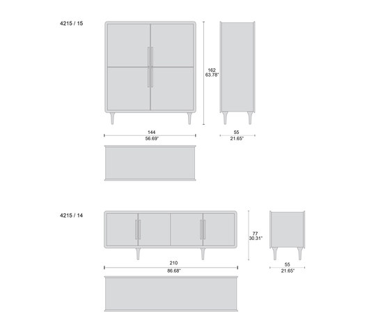 4215 vetrine di Tecni Nova | Armadi