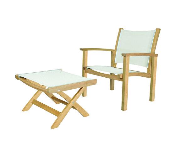 St. Tropez Club Chair + Ottoman by Kingsley Bate | Armchairs