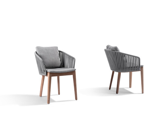 Mood Dining Chair | Wengé by Tribù | Garden chairs