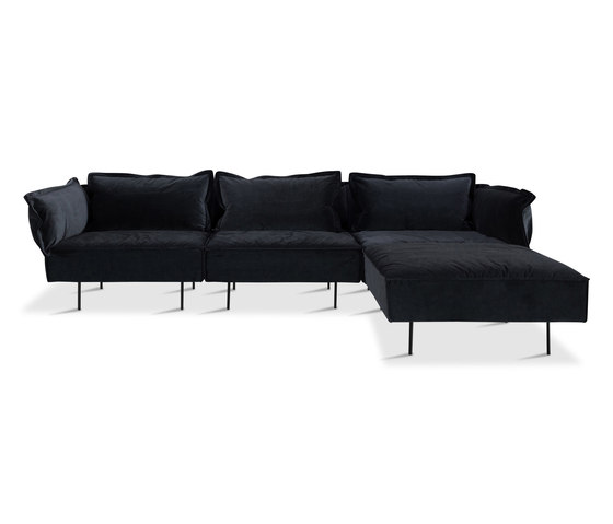 3-Seat sofa with chaise - dark grey di HANDVÄRK | Sofas