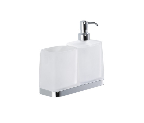 Glass holder and soap dispenser by COLOMBO DESIGN | Soap dispensers