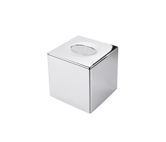 Porta Kleenex quadrato in ABS cromato di COLOMBO DESIGN | Distributori di salviette