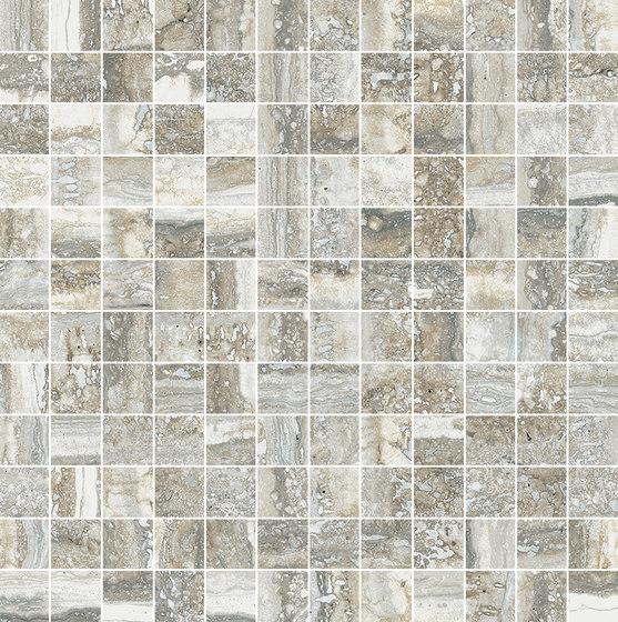 Mosaico 144 Travertino Grey JW 07 von Mirage | Keramik Fliesen