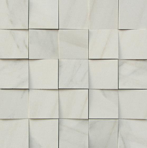 Mosaico 3D Elegant White JW 09 von Mirage | Keramik Fliesen