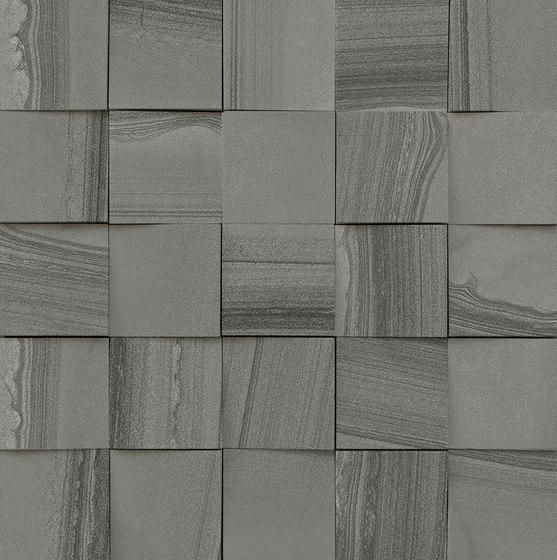 Mosaico 3D Gris Allure JW 08 von Mirage | Keramik Fliesen