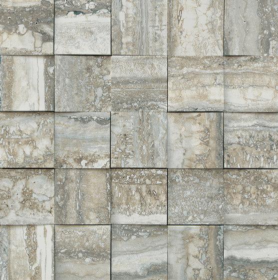 Mosaico 3D Travertino Grey JW 07 von Mirage | Keramik Fliesen