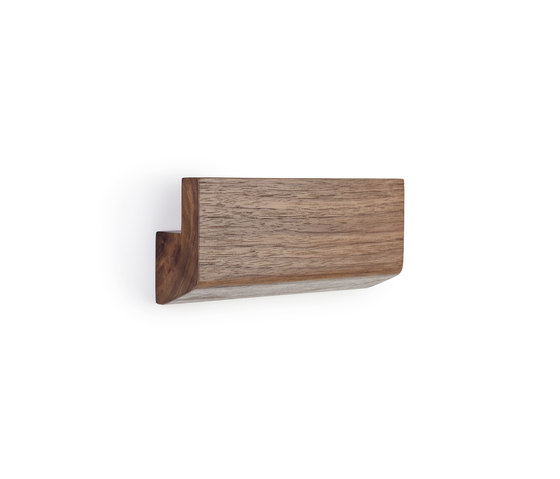 Ledger walnut by Les Basic | Wall shelves
