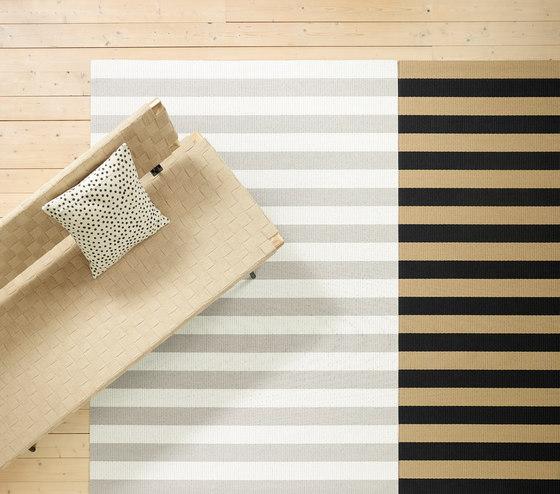 Big Stripe paper yarn carpet | stone-white von Woodnotes | Formatteppiche