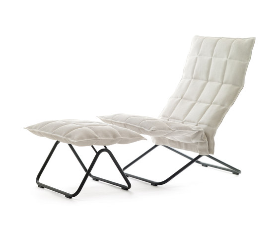 k chair   narrow   with k Ottoman by Woodnotes   Armchairs