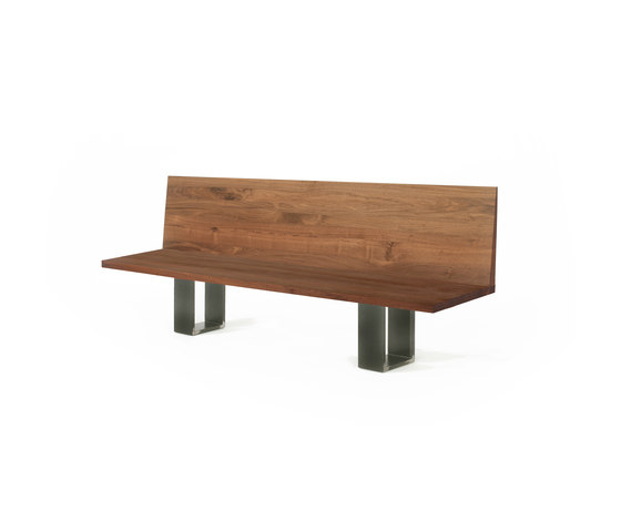 Newton Bench Schienale by Riva 1920 | Upholstered benches