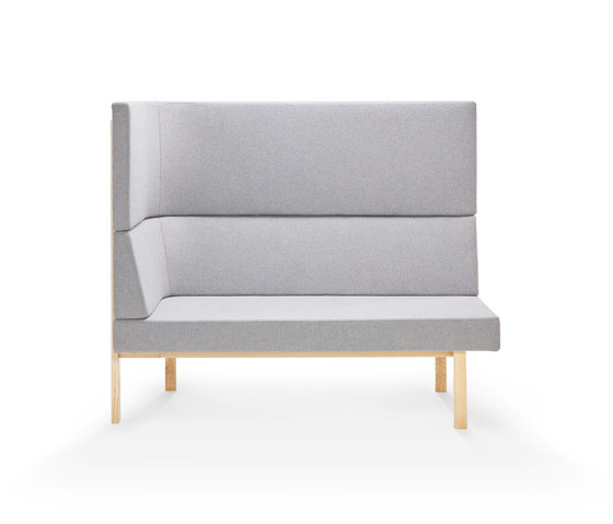 Homework chaise (left), highback (left) von Les Basic | Modulare Sitzelemente
