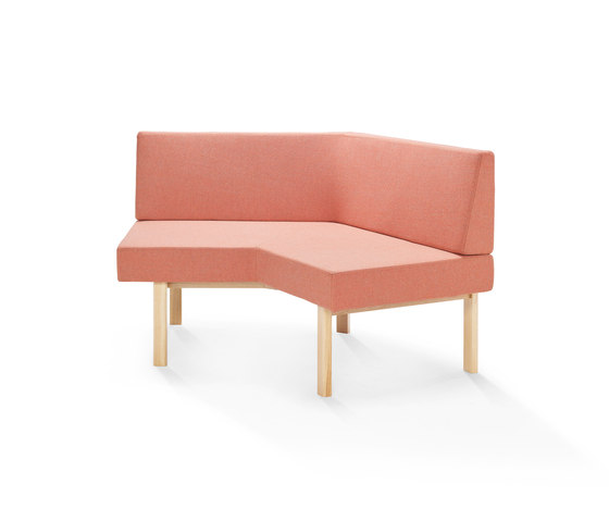 Homework angled sofa (outside) de Les Basic | Bancos