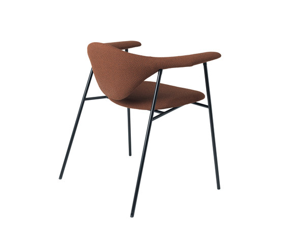 Masculo Chair – 4-legged metal version de GUBI | Sillas de visita