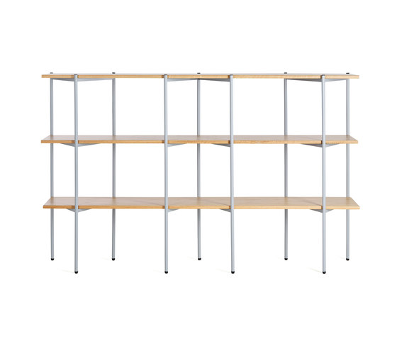 Troika wide, 3-level by Les Basic | Shelving systems
