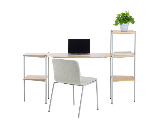 Troika desk, 3-level, single by Les Basic | Desks