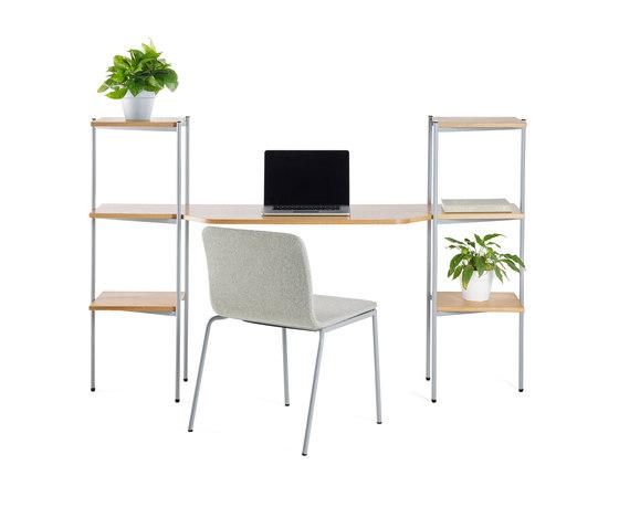 Troika desk, 3-level, double by Les Basic   Desks