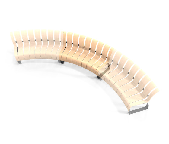 Nova C Wide Back concave module von Green Furniture Concept | Sitzbänke