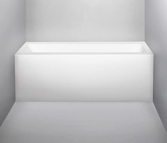 metrix | blu•stone™ alcove bathtub, right drain by Blu Bathworks | Bathtubs