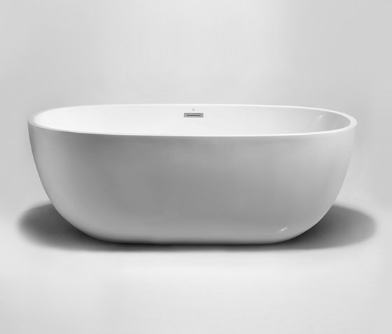 "halo | 59"" acrylic freestanding bathtub by Blu Bathworks 