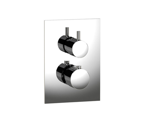 pure∙2 | thermostatic tub/shower valve trim with 2-way diverter, square trim by Blu Bathworks | Shower controls