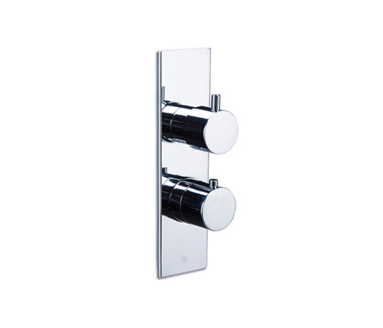pure∙2 | thermostatic tub/shower valve trim with 2-way diverter by Blu Bathworks | Shower controls