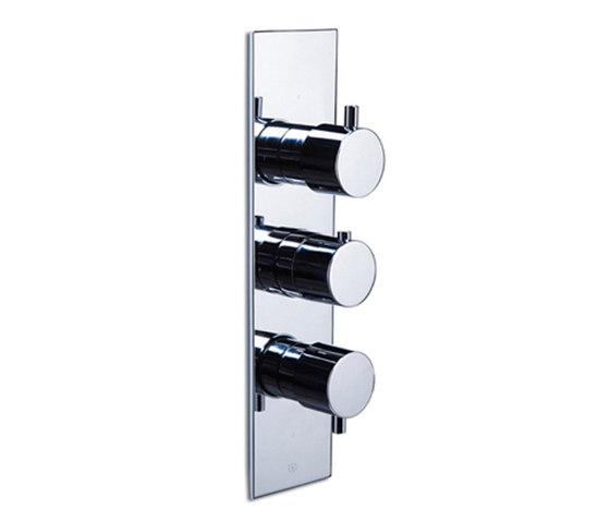 pure∙2 | thermostatic tub/shower valve trim with 2-way diverter & volume control by Blu Bathworks | Shower controls
