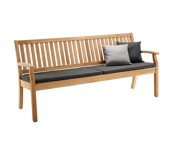 Windsor Bench with arm and back, large by solpuri | Benches