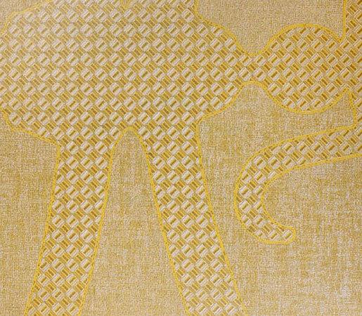 Menza | Sun Gold di Luxe Surfaces | Carta parati / tappezzeria