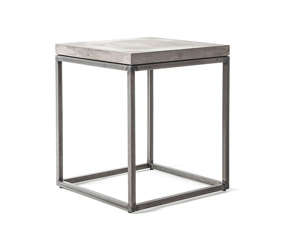 Perspective Concrete and Steel Side Table by Pfeifer Studio | Side tables