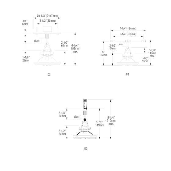 X02 | C3 von MP Lighting | Deckenleuchten