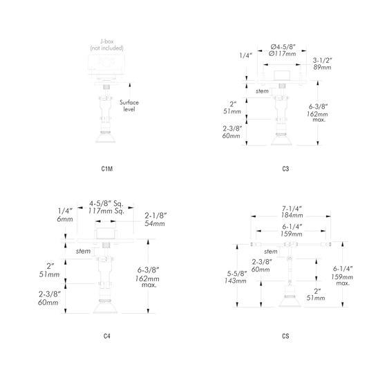 X06 | C1M de MP Lighting | Lámparas de techo
